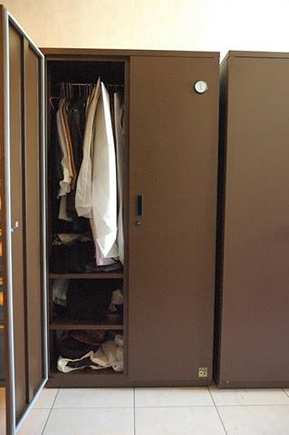 Shirts and other clothing stored in Eureka Dry Tech Wardrobe dry cabinet