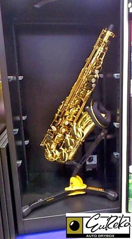 Saxophone protected from moisture & humidity in Eureka Dry Tech