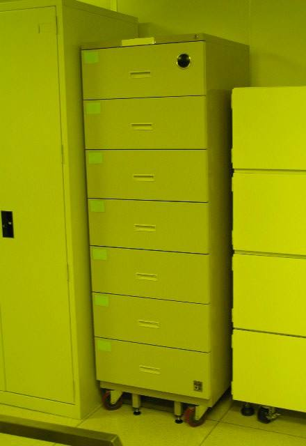 Eureka Dry Tech Records filing cabinet in a lab.