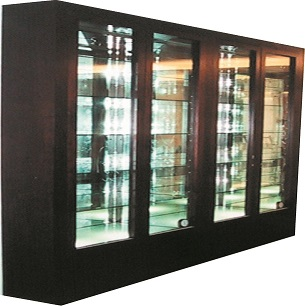 Eureka custom product display dry cabinet