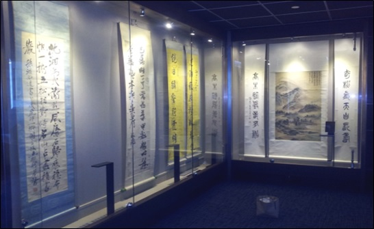 Art Gallery displaying painting in custom Eureka designed moisture controlled environment
