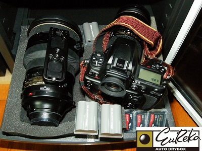 Nikon Camera user stores collection in Eureka's Dry Cabinet.