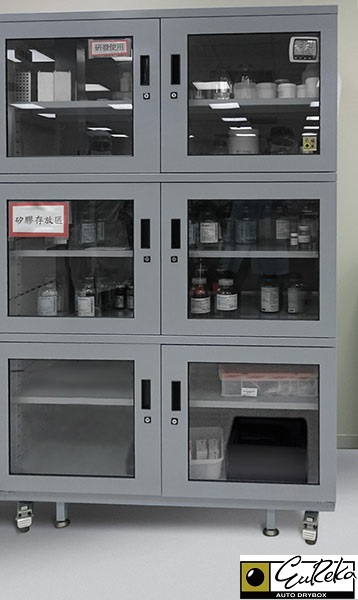Eureka SMT Dry Cabinet storing raw LED material.