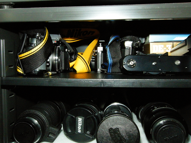 Eureka Dry Tech customer protecting classic Nikon film cameras and lenses.