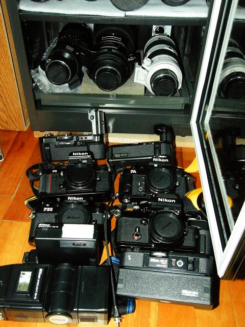 Eureka Dry Tech customer protecting classic Nikon cameras.