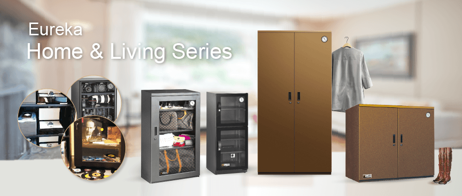 Humidity controlled storage wardrobe and cabinet for Home and living environement