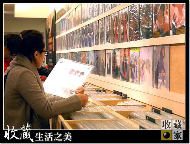 Vinyl Underground customer searching through albums
